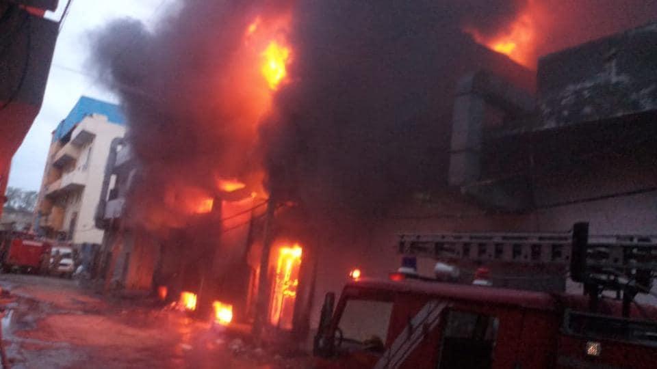 Delhi fire,Delhi polythene factory fire,Nanglio