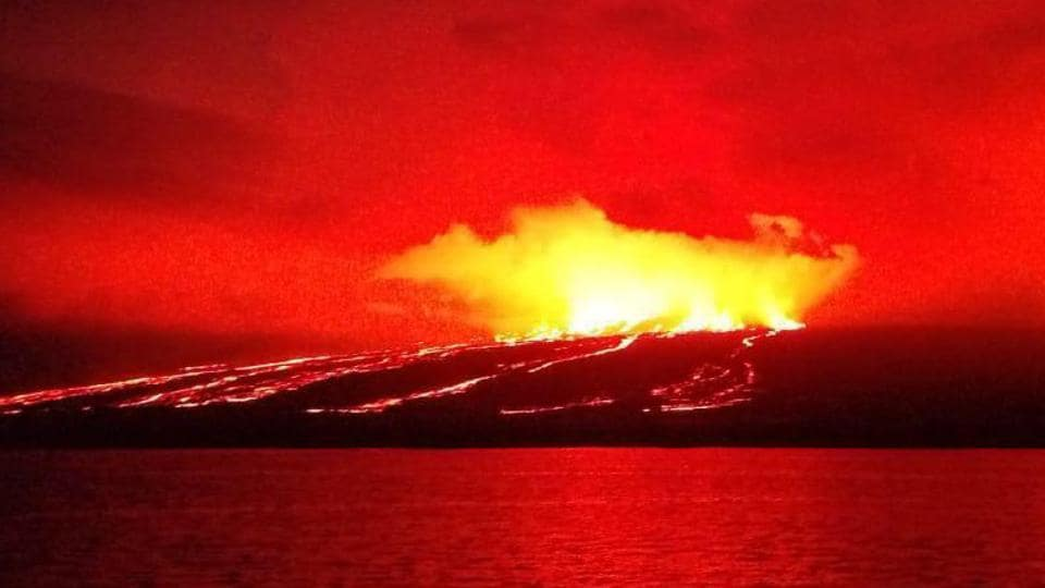 Manam Island, just 10 km wide, is one of the Pacific nation's most active volcanoes and is home to roughly 9,000 people.