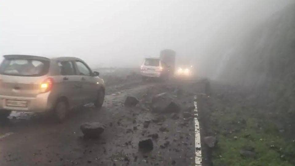 Malshej ghat,landslide,district collector