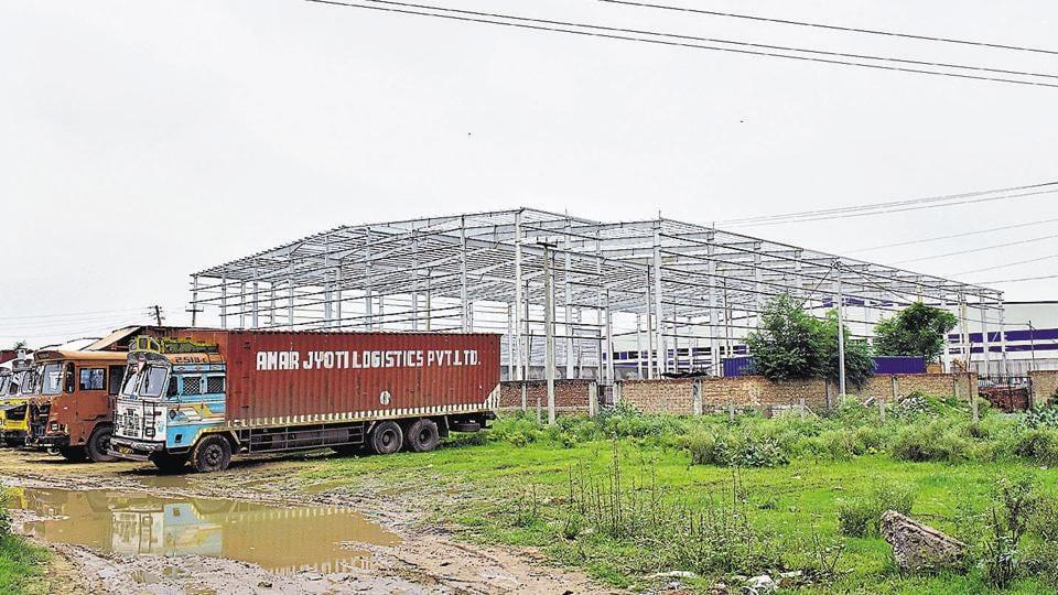 A warehouse coming up at Bilaspur, Tauru Road, in Gurugram.