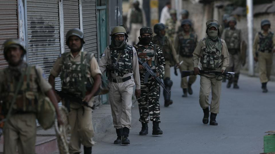 Authorities on Monday imposed a shutdown on Srinagar and some other parts of the Kashmir Valley following rumours that the Supreme Court has scrapped Article 35A, police said.