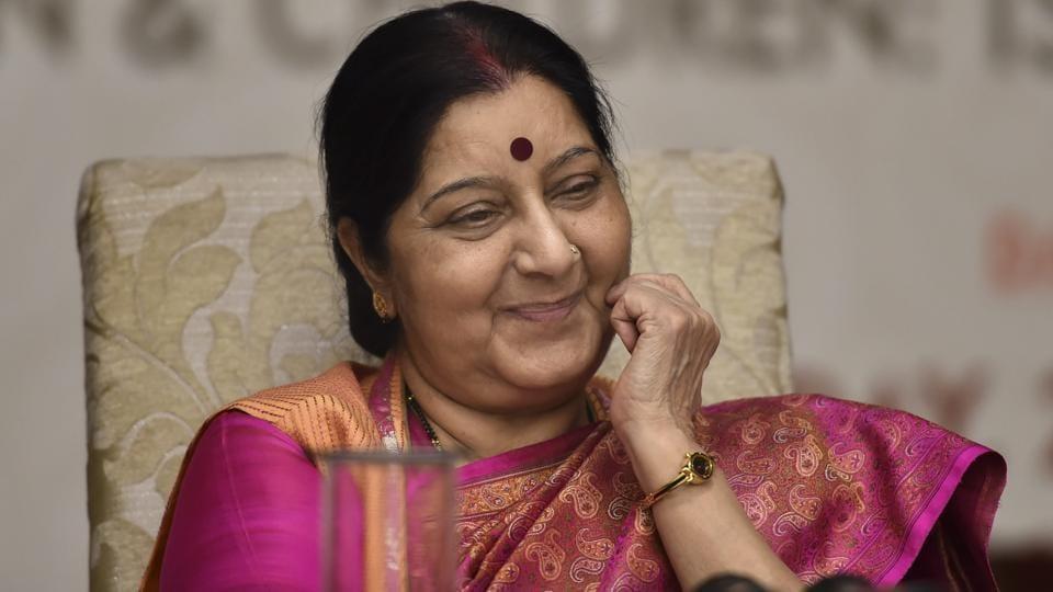 Sushma Swaraj,Pakistani counterpart,UN