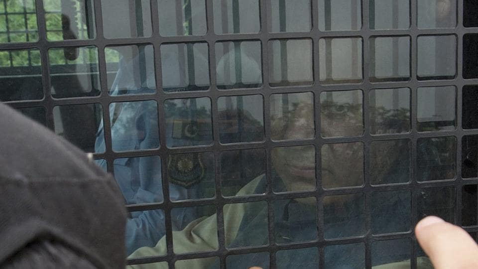 Pakistan's jailed former PM Nawaz Sharif appears in court in