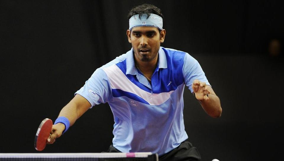 The team comprising G Sathiyan, Achanta Sharath Kamal (in pic) and A Amalraj couldn't put up a fight against the mighty Koreans, who set up a summit clash against defending champions China in a repeat of 2014 edition.