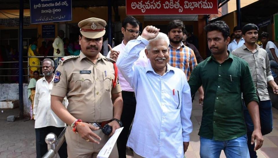 P Vara Vara Rao was arrested for allegedly being involved in plotting the assassination of Prime Minister Narendra Modi.
