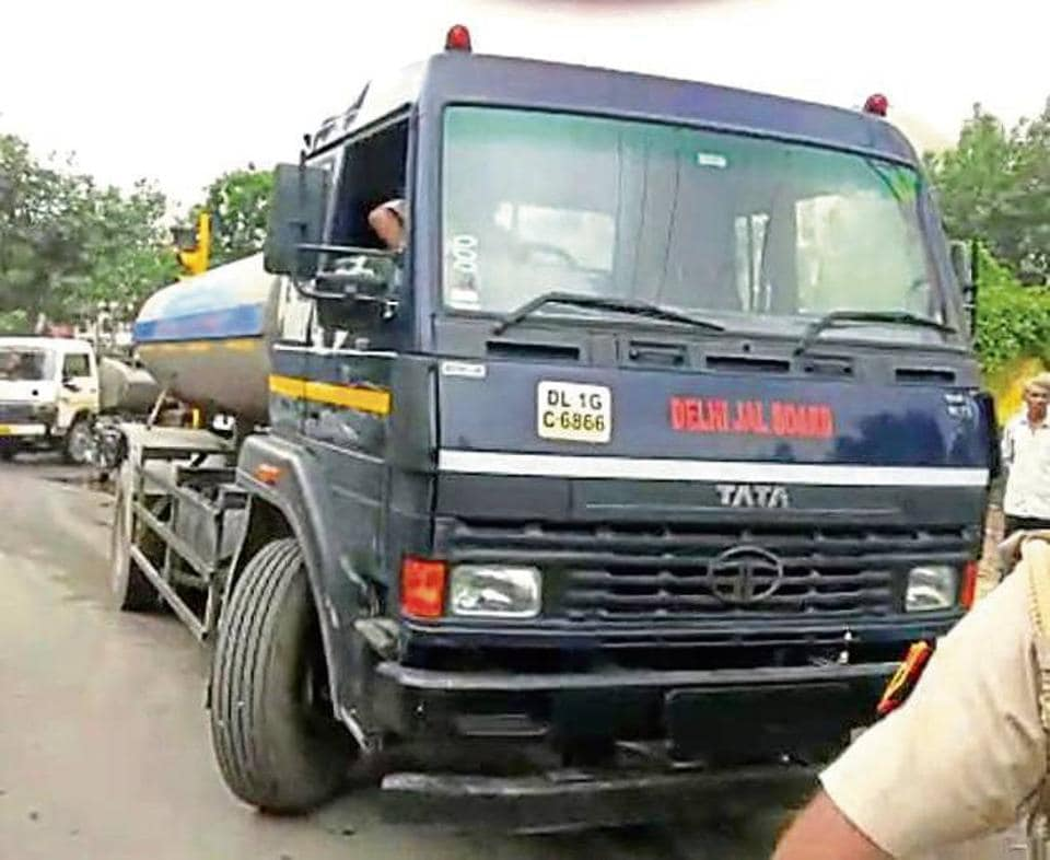 Police officials said the tanker was speeding and being driven rashly.
