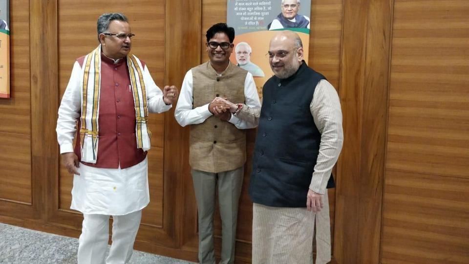 OP Choudhary,Raipur,Amit Shah