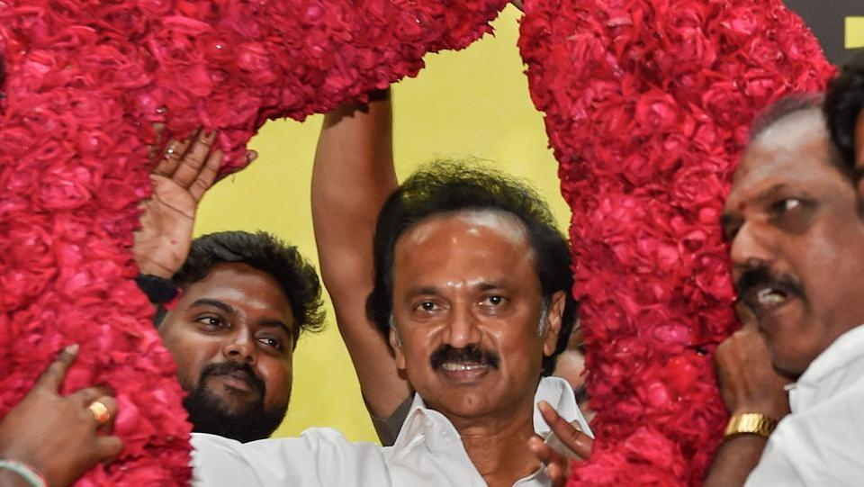 Newly-appointed DMK chief Stalin,DMK president Stalin,new DMK president Stalin