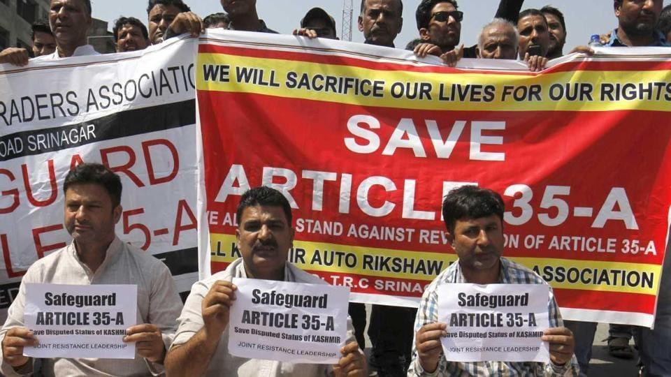 Srinagar,Kashmir,Article 35 A