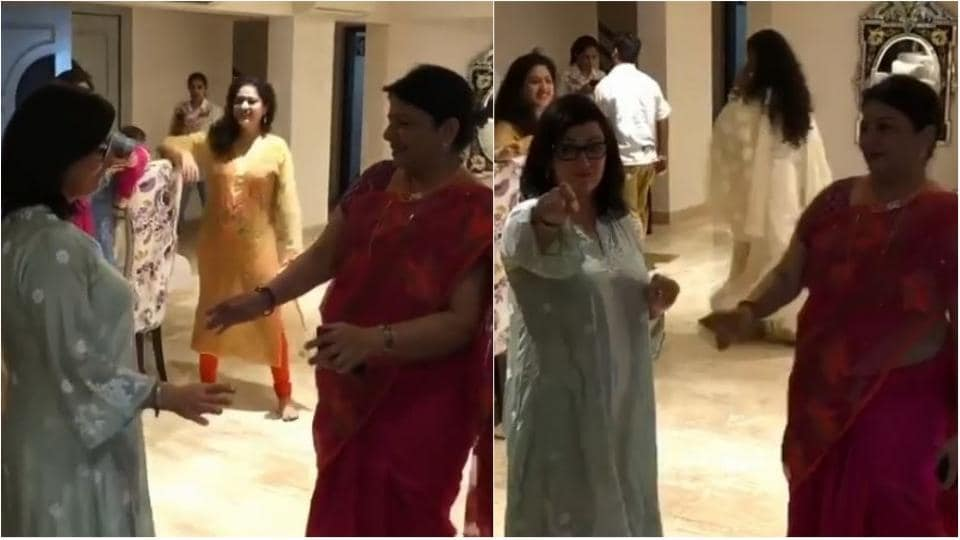 Priyanka Chopra, Nick Jonas' mothers dancing to three Peg on the roka are all Punjabi moms ever. Watch