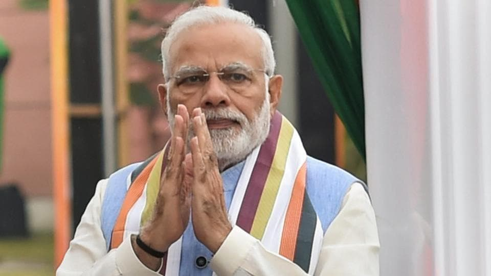 Prime Minister Narendra Modi before the meeting of the BJP Chief Ministers' Council in New Delhi on Tuesday. Prime Minister Narendra Modi on Wednesday urged people to not use the social media to spread dirt, saying the issue was not about any ideology but simply does not behove a decent society.