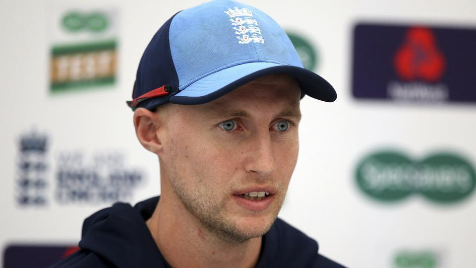 England's captain Joe Root talks to the media during the nets session at The AGEAS Bowl, Southampton.