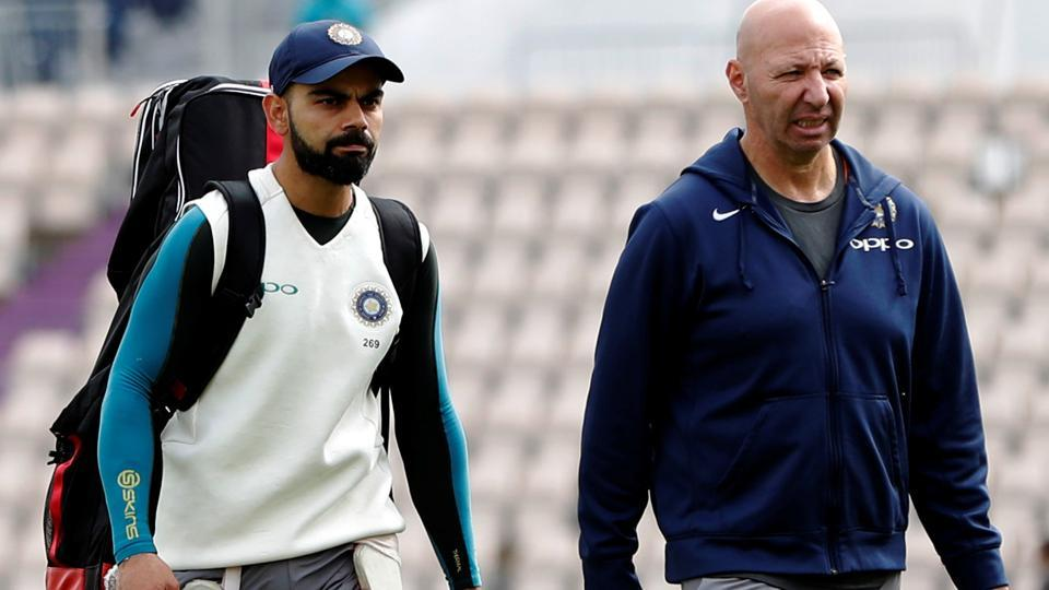 India's Virat Kohli during nets ahead of the fourth Test against England in Southampton.