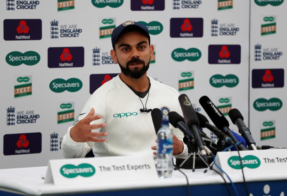 Cricket - India Press Conference - Ageas Bowl, West End, Britain - August 29, 2018 India's Virat Kohli during the press conference.