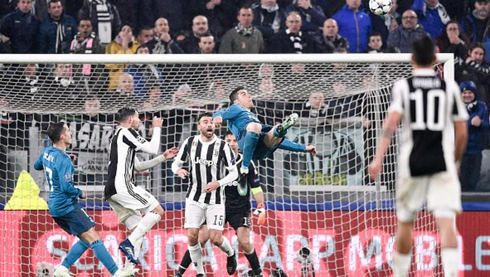 Cristiano Ronaldo S Overhead Kick Against Juventus Wins Uefa Goal Of Season Football Hindustan Times