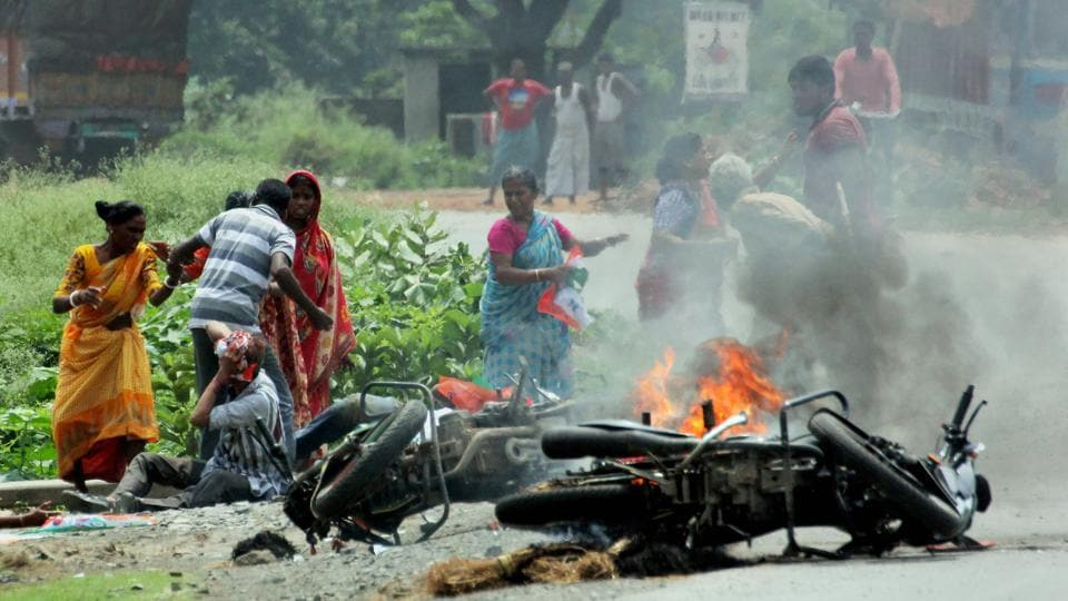 At least four people were killed and 17 injured in two districts of West Bengal late on Tuesday in clashes that erupted over the formation of panchayat boards following the elections to the rural bodies in mid-May, taking the death toll to ten since August 25, officials said on Wednesday. (PTI File)