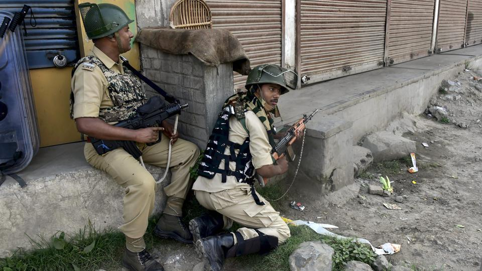 In a breakthrough, two Hizbul Mujahideen militants including commander Altaf Ahmed Dar alias Altaf Kachroo, one of the oldest surviving terrorists, were killed on Wednesday in South Kashmir's Anantnag district, police said. Hours after security forces killed Altaf Ahmad Dar, militants shot dead four policemen in Shopian district of south Kashmir. (S Irfan / PTI File)
