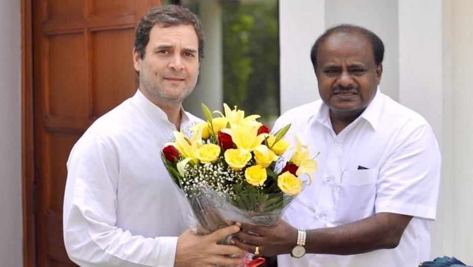 HD Kumaraswamy,Rahul Gandhi,Karnataka government