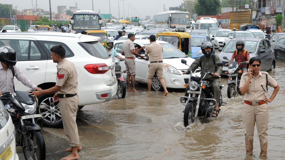 Gurugram,Rain,Flood