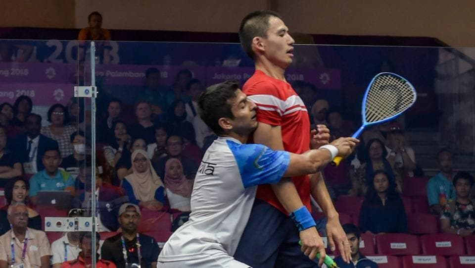 Indian men's team have lost 0-2 in the squash semifinal, settling for bronze. India clinched three medals in sailing with Varsha Gautham/Sweta Shervegar clinching silver in the 49er FX Women's event, Harshita Tomar claiming bronze in the Open Laser 4.7 and Varun Thakkar Ashok/Chengappa Ganapathy Kelapanda bagging bronze in the 49er men's event at the Asian Games 2018 on Friday. (Vijay Verma / PTI)