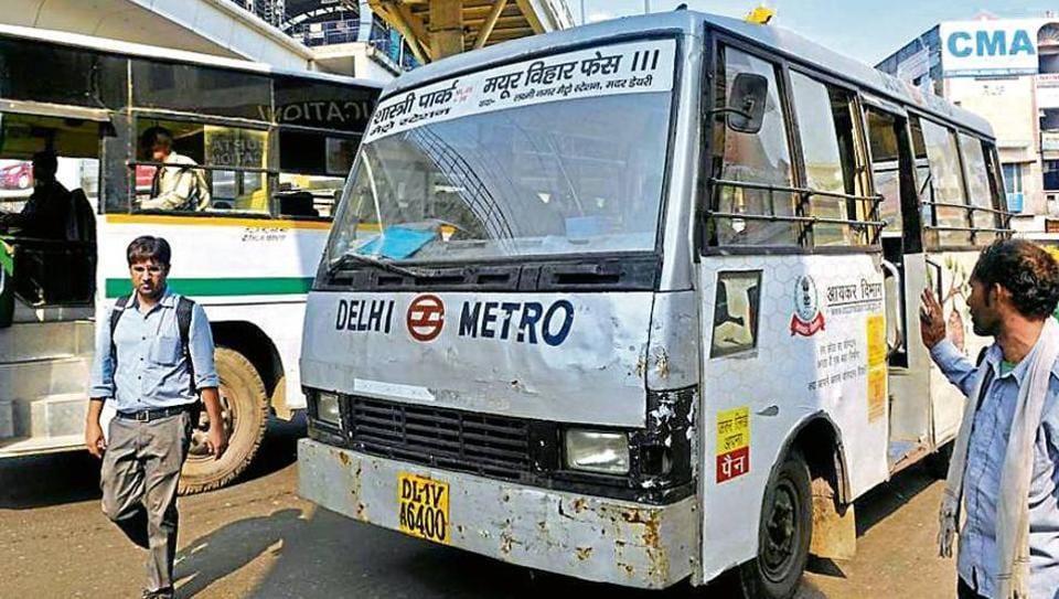 Delhi Metro,DMRC,Feeder bus service