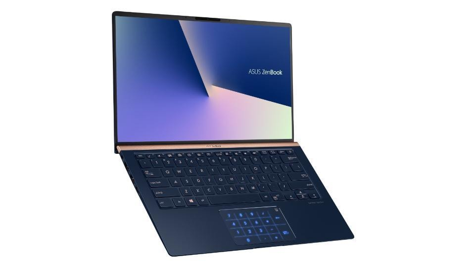 Asus ZenBook series features a screenpad with apps like Adobe Sign, Handwriting and SpeechTyper.