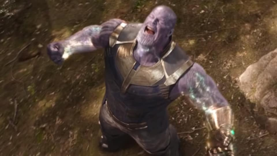 Thanos, as played by Josh Brolin, in a still from Avengers: Infinity War.