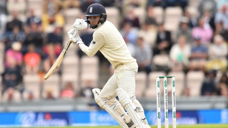 England's Sam Curran bats during the first day of the fourth Test cricket match between England and India at the Ageas Bowl in Southampton, southwest England on August 30, 2018.