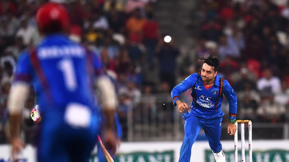 Rashid Khan took figures of 3/18 in the match against Ireland.