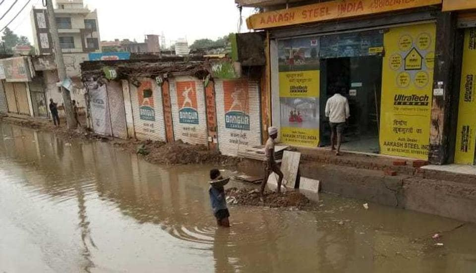 Waterlogging in Palam Vihar of Gurugram has forced residents to shift out of the area.