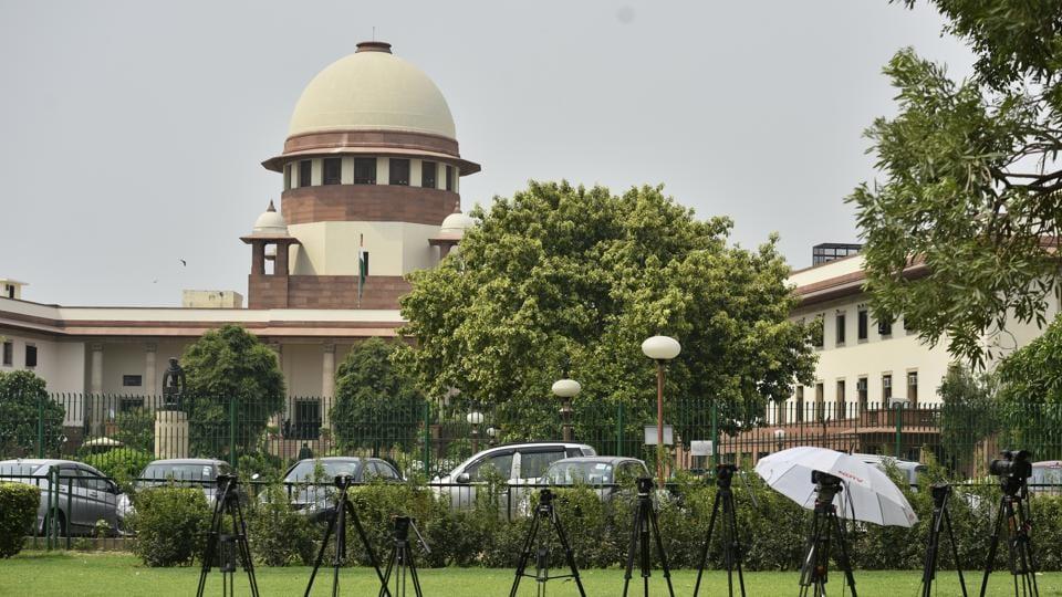 The Supreme Court building in New Delhi.