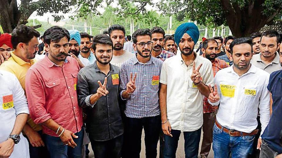 Punjab University elections,Panjab University Campus Students' Council (PUCSC,National Students' Union of India (NSUI