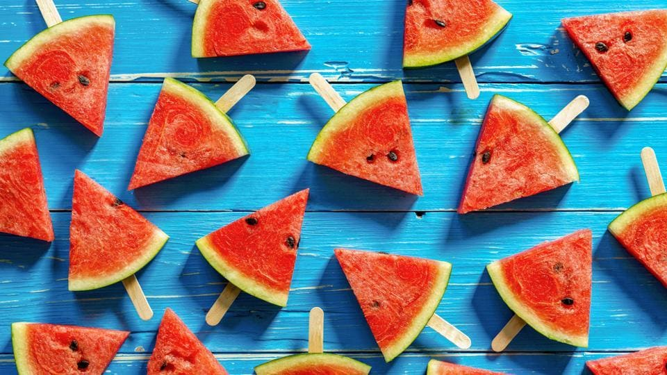 Watermelon helps you hydrate and lowers inflammation. It can reduce fatigue and the natural sugars it contains offer relief from bloating.  (Shutterstock)