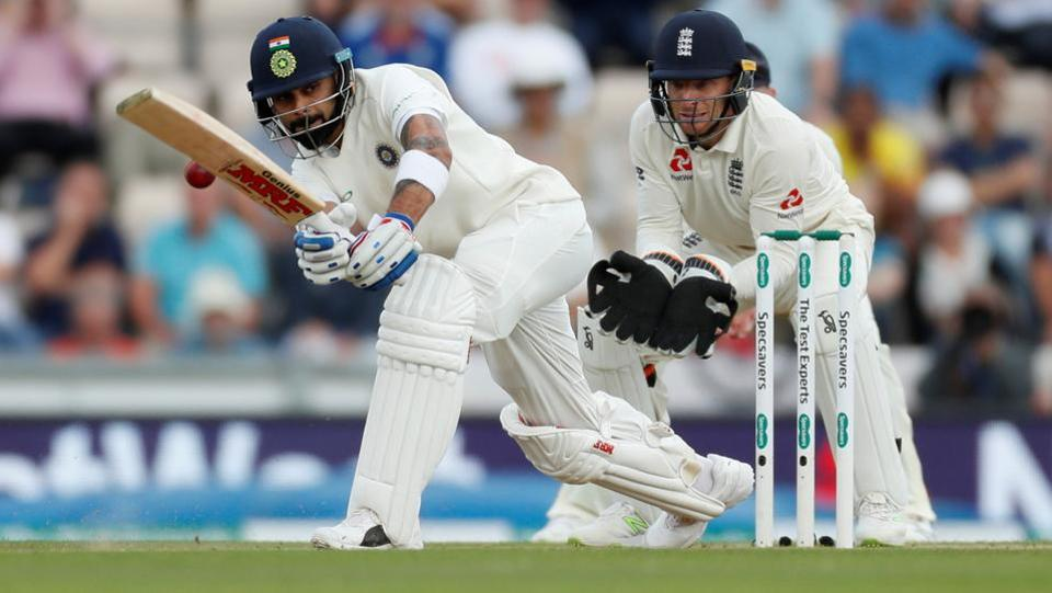 India's Virat Kohli in action against England. (REUTERS)
