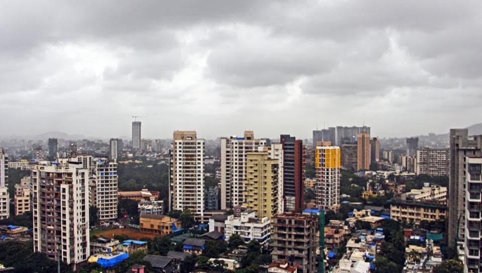 An aerial view of Mumbai.