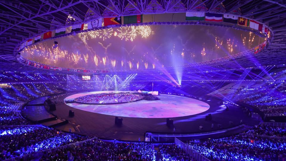 A view of the stadium during the closing ceremony of the 18th Asian Games 2018, in Jakarta. (PTI)