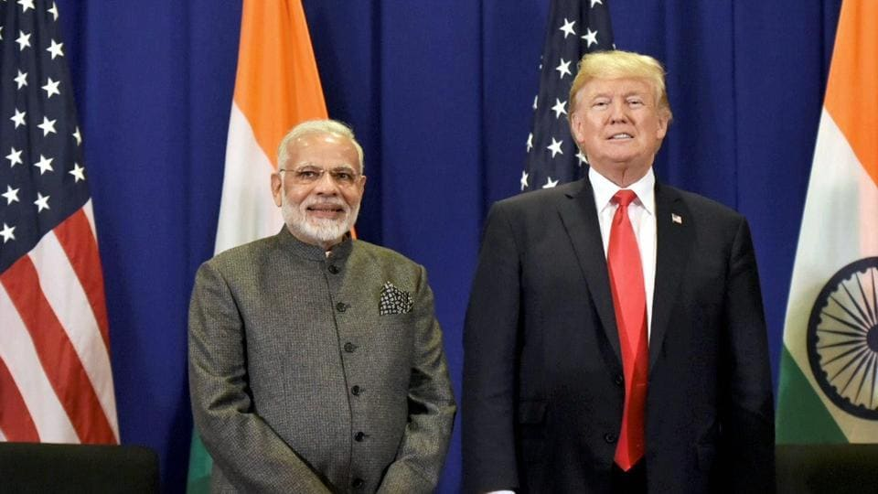 Prime Minister Narendra Modi meets USPresident Donald Trump.