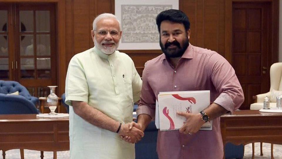 Mohanlal,PM Modi,Mohanlal Modi