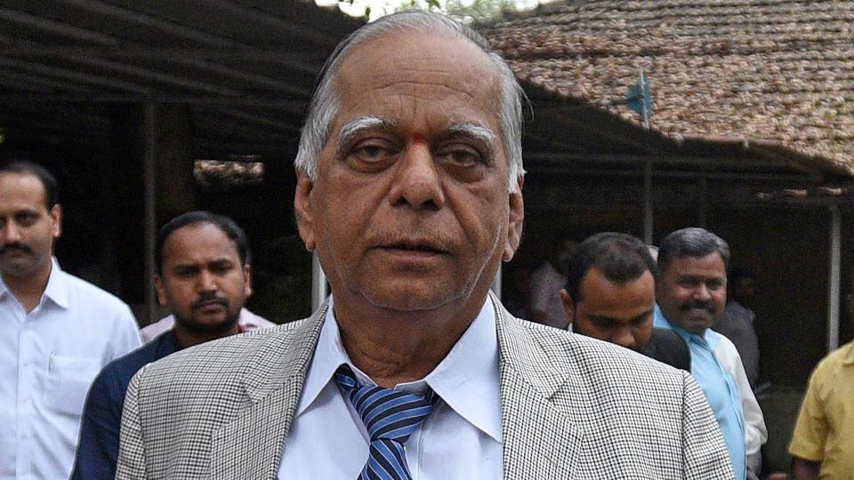DS Kulkarni(in picture) and his wifeHemanti Kulkarni were arrested for economic fraud in February.