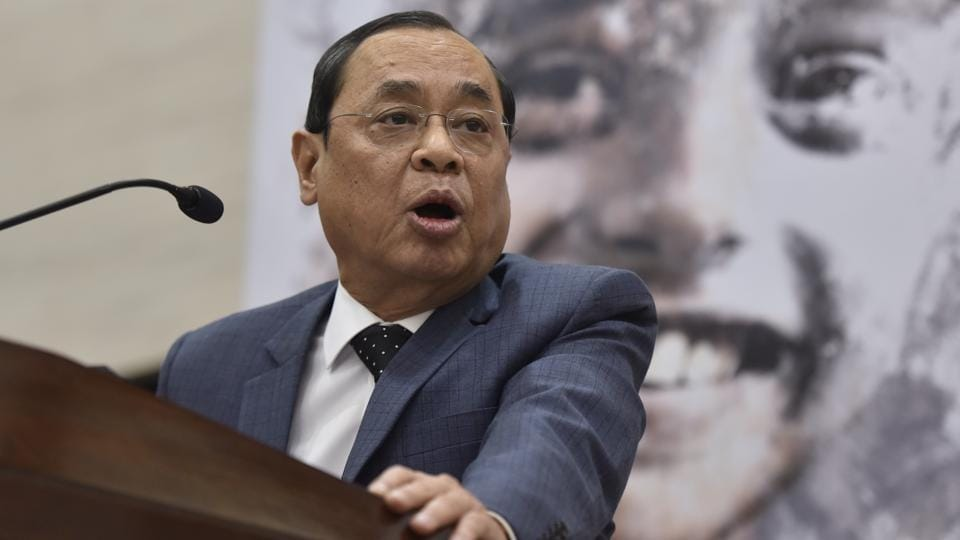 Justice Ranjan Gogoi speaks at a book release function in Delhi on June 01, 2018.