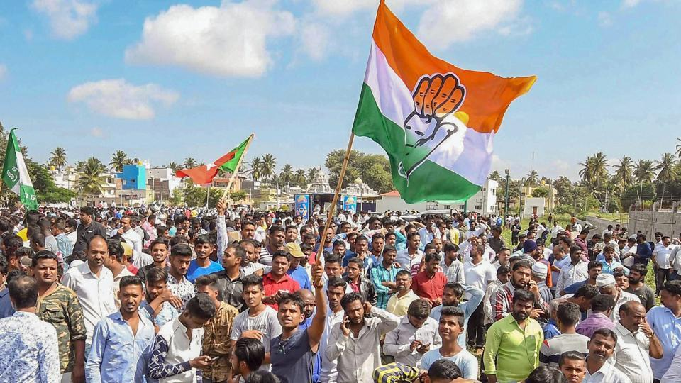 Karnataka civic body polls,Congress wins Karnataka civic poll,Congress JD(S) alliance