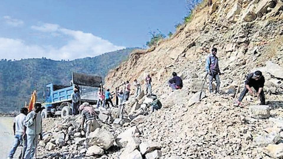 An NGO hasc alleged that the road-widening work to connect Kedarnath, Badrinath, Yamunotri and Gangotri was being carried out in violation of environmental laws.