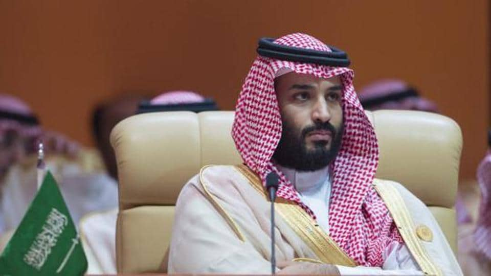 (FILES) In this file handout photo taken on April 15, 2018 and released by the Saudi Royal Palace Crown Prince of Saudi Arabia Mohammed bin Salman Al-Saud attends the 29th Arab League Summit in Dhahran.