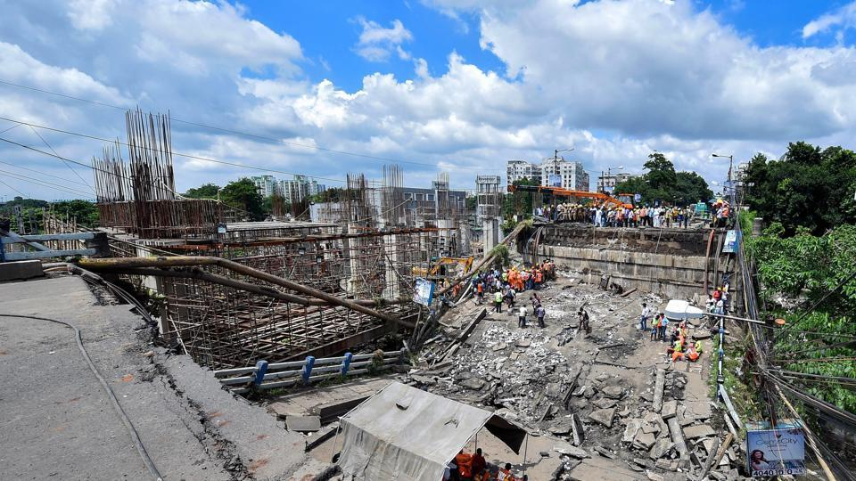 Image result for Warnings on decrepit Majerhat bridge in Kolkata went unheeded