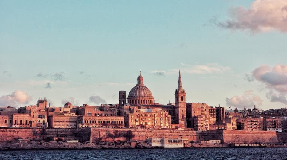 Valletta is the capital of Malta and is perched on a hill between two natural harbours. It includes a dense concentration of historic monuments.  (UNSPLASH)