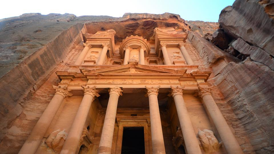 At Petra, the famous archeological site in Jordan, you can explore the historic temples, mausoleums, and monasteries.  (Unsplash)