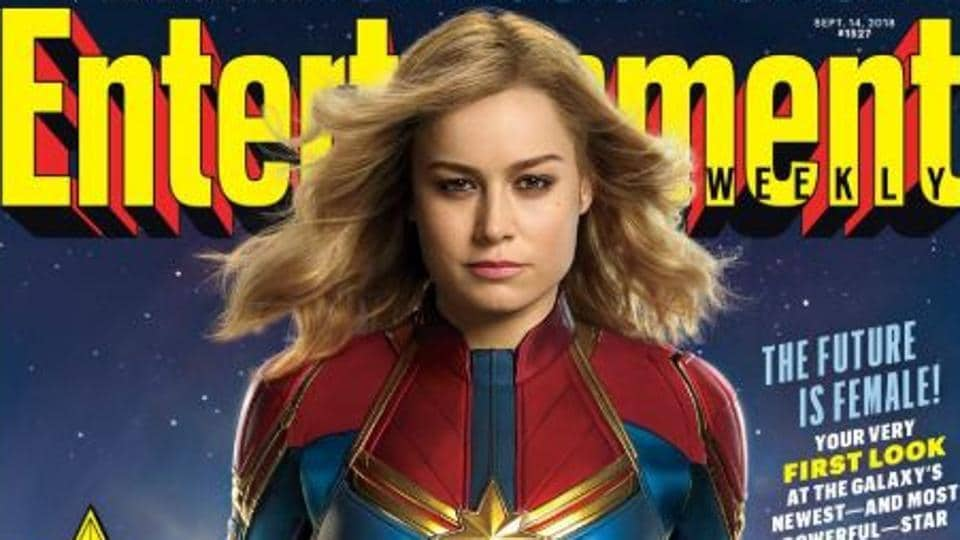 Captain Marvel first look has Brie Larson suiting up as Marvel Cinematic Universe's most powerful superhero.