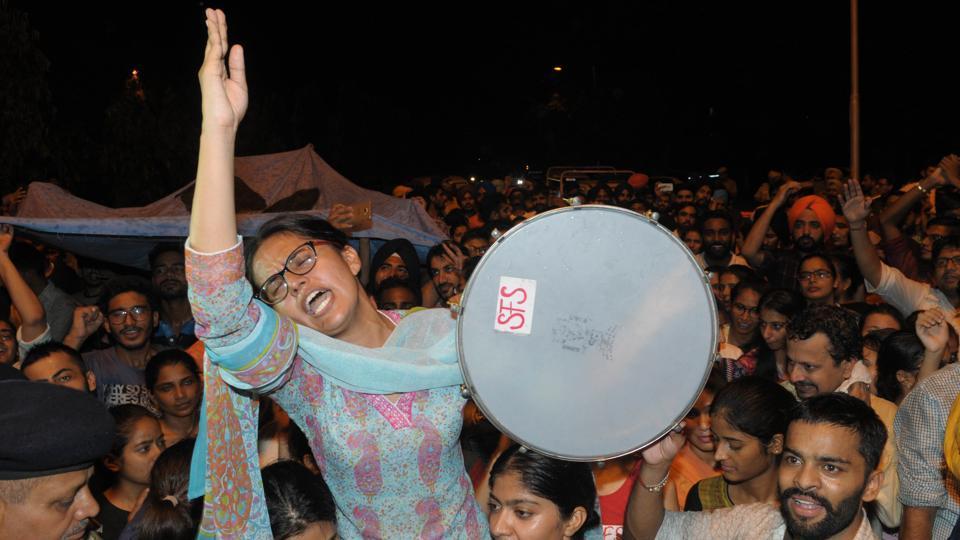 PU election results,Kanupriya,first woman president