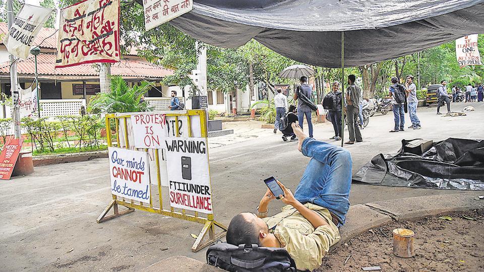 Pune FTII,FTII,protest
