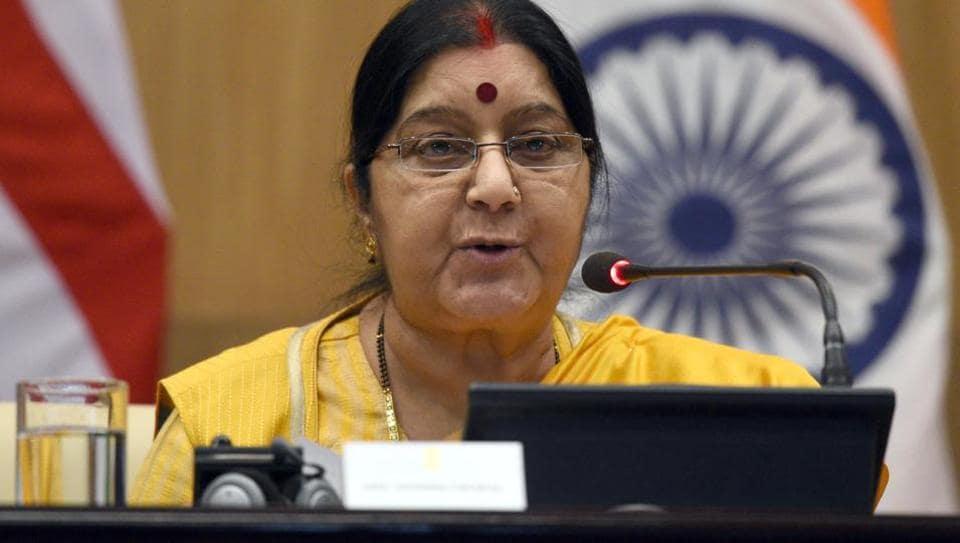 India,H-1B visa,Sushma Swaraj